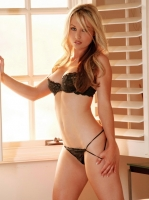 Kayden Kross at the window